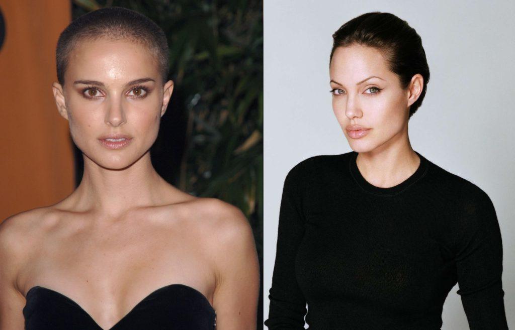 Натали Портман и Анджелина Джоли с остриженными волосами