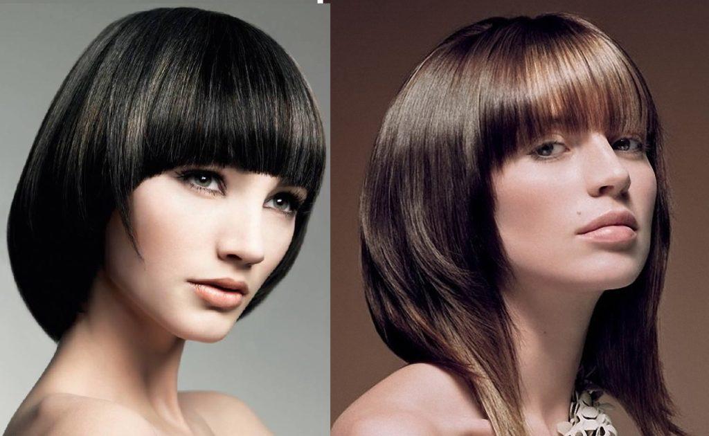 Паж на волосы средней длины