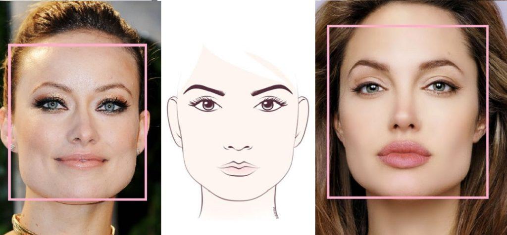 Пример квадратного типа лица