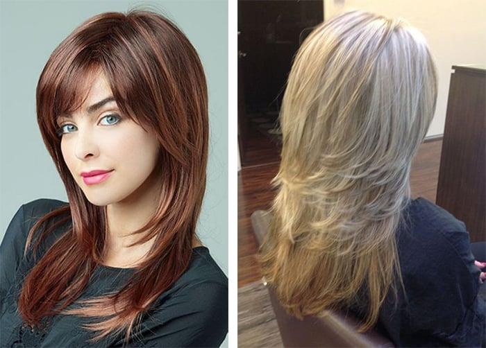 Стрижка аврора для длинных волос