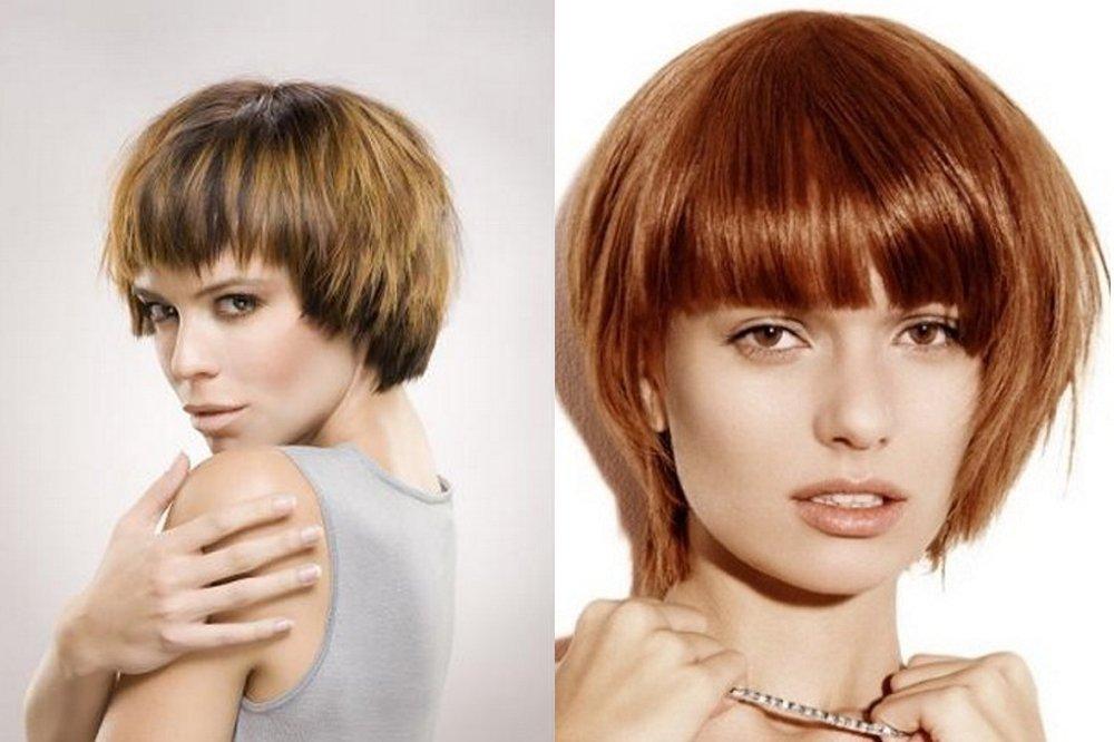 Стрижка паж на мелированных и окрашенных волосах