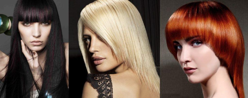 Женщины с волосами разного цвета