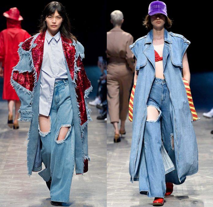 длинная жилетка из джинсы