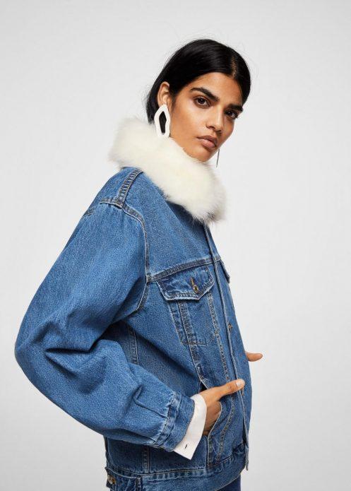 джинсовая куртка и мех