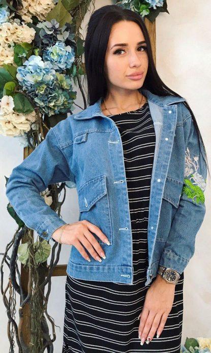 джинсовая куртка простая