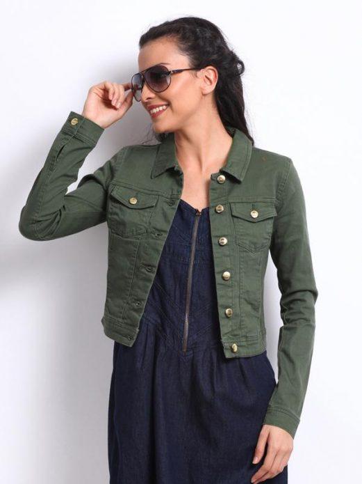 джинсовая куртка хаки