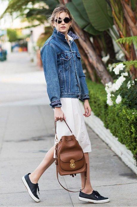 джинсовая куртка лук