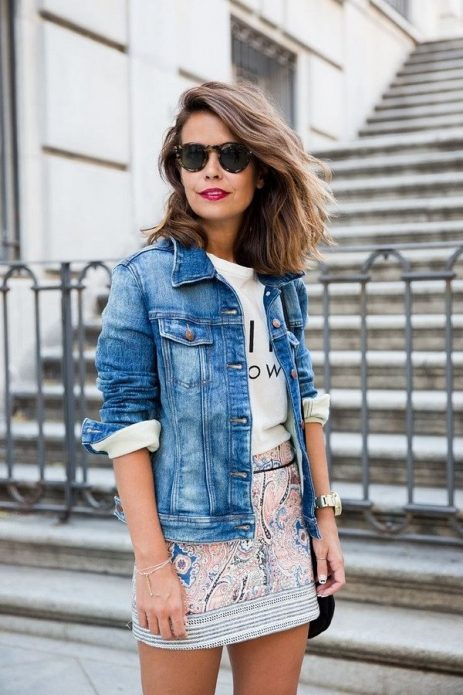 джинсовая куртка образ 1