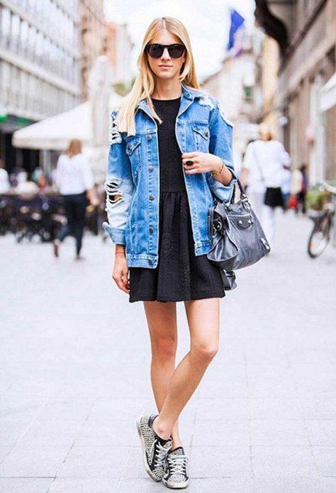 джинсовая куртка образ 2