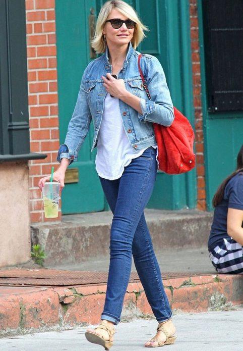 джинсовая куртка с майкой