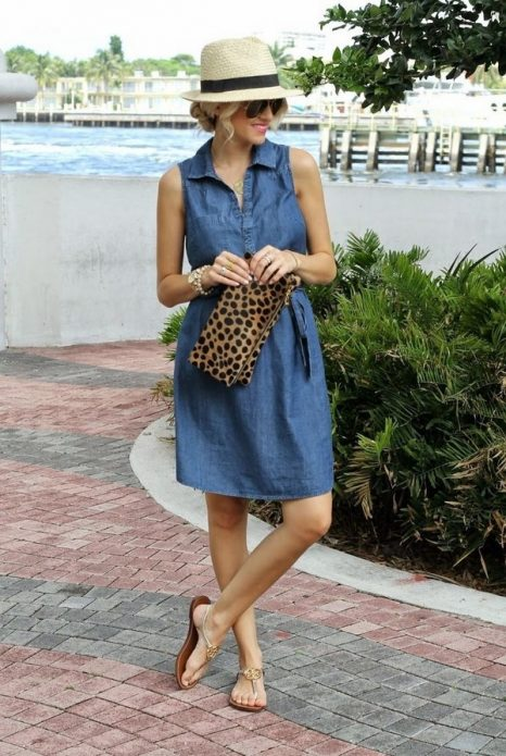 джинсовое платье носить