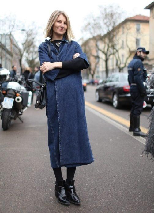 джинсовое платье пальто