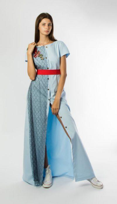 джинсовое платье светлое