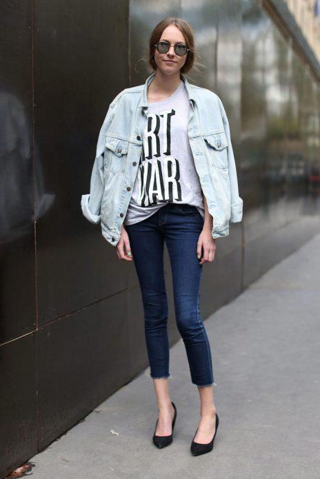 джинсовые куртки стиль свободный