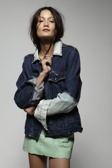 джинсовые куртки стиль креативный
