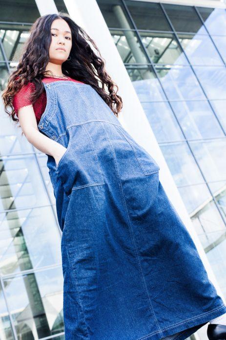 джинсовый сарафан в пол