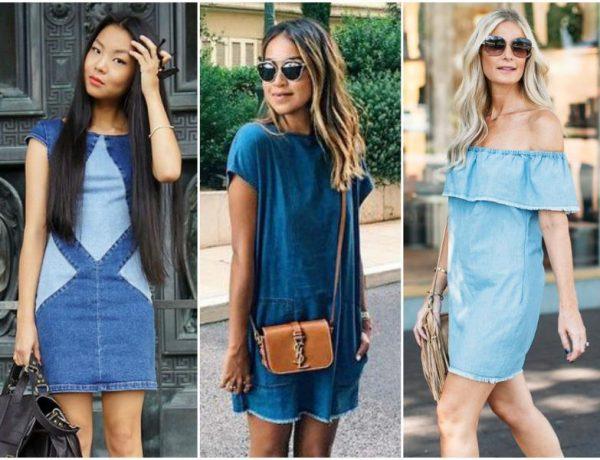 Модели джинсовых платьев