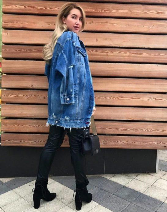 образ джинсовая куртка 9