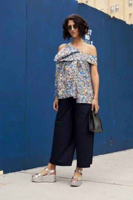 широкие брюки с босоножками
