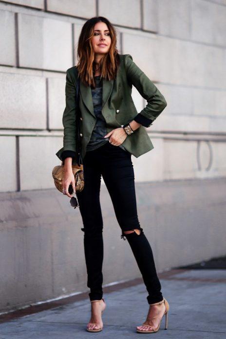 пиджак с босоножками