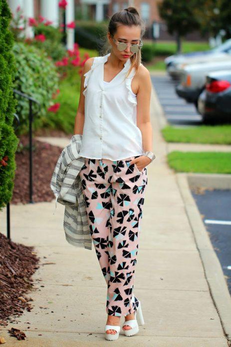пижамный стиль с босоножками