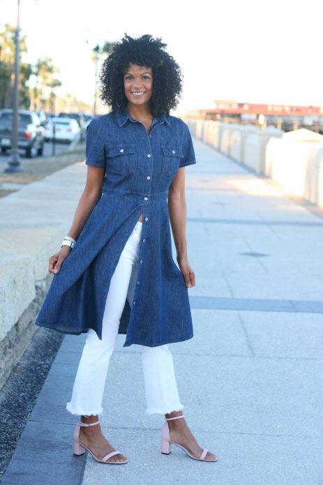Платье под брюки