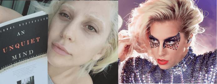Леди Гага без макияжа и с ним