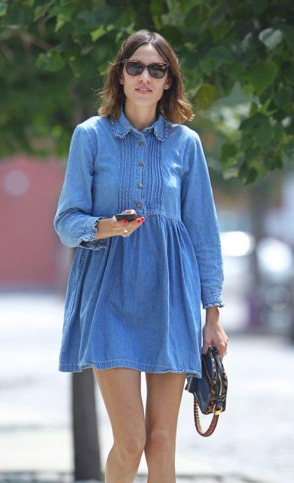 Свободное платье мини