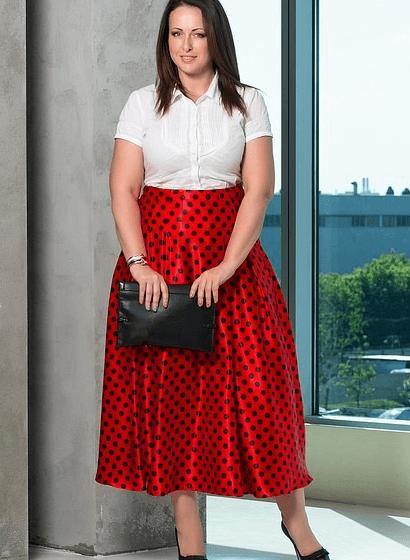 юбка для полных