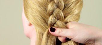 Плетение косы наоборот