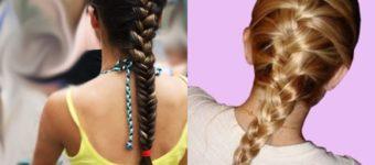 Колоски на средние волосы