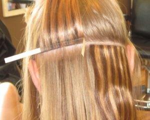 Девушки с нарощенными волосами