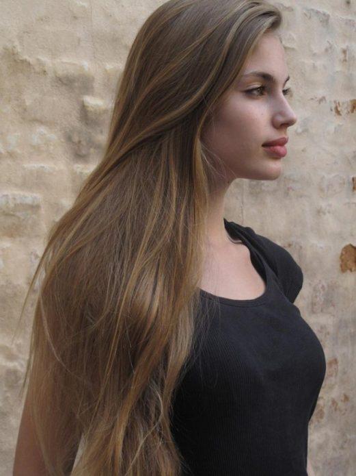 длинные волосы прямые без укладки