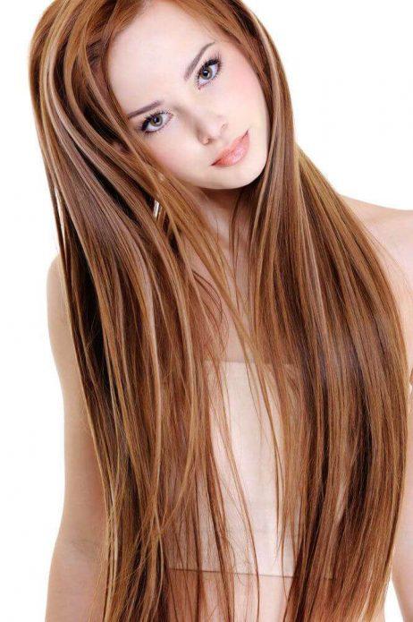длинные волосы прямые рыжие