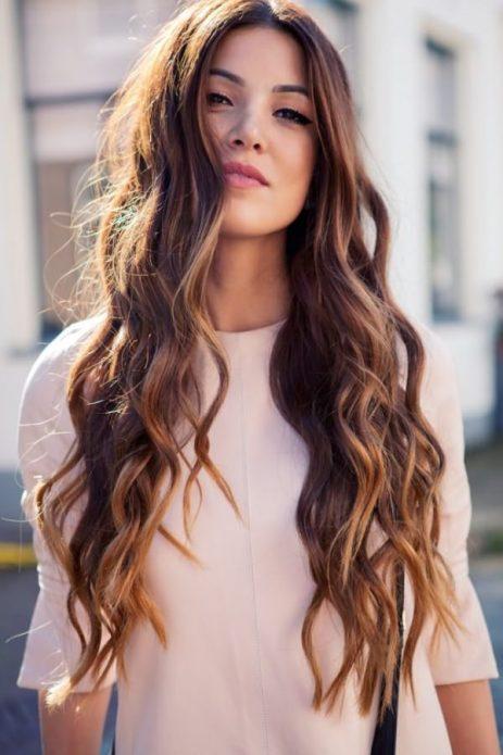 длинные волосы волны лисий хвост
