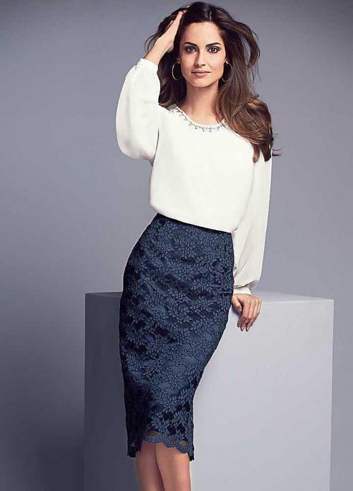кружевная юбка и блуза