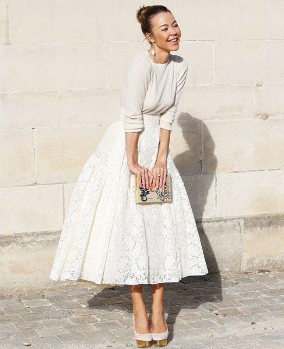 кружевная юбка Диор
