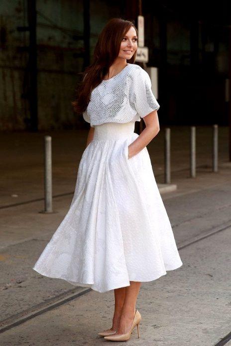 кружевная юбка солнце