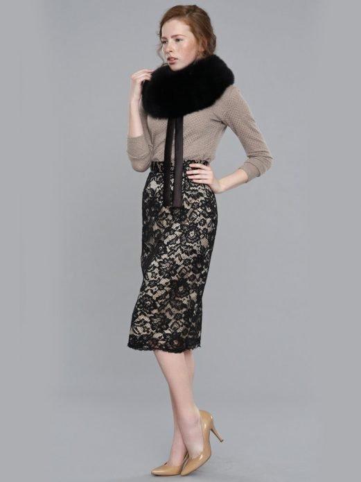 кружевная юбка образ