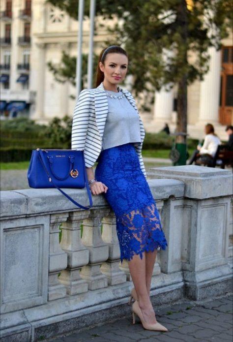 кружевная юбка пиджак