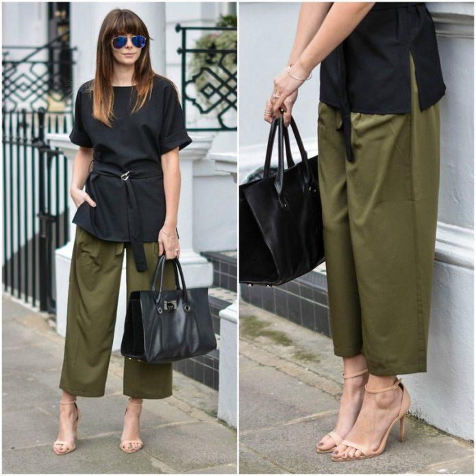 льняные брюки и туника