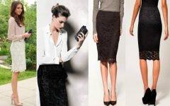 Образы с кружевной юбкой