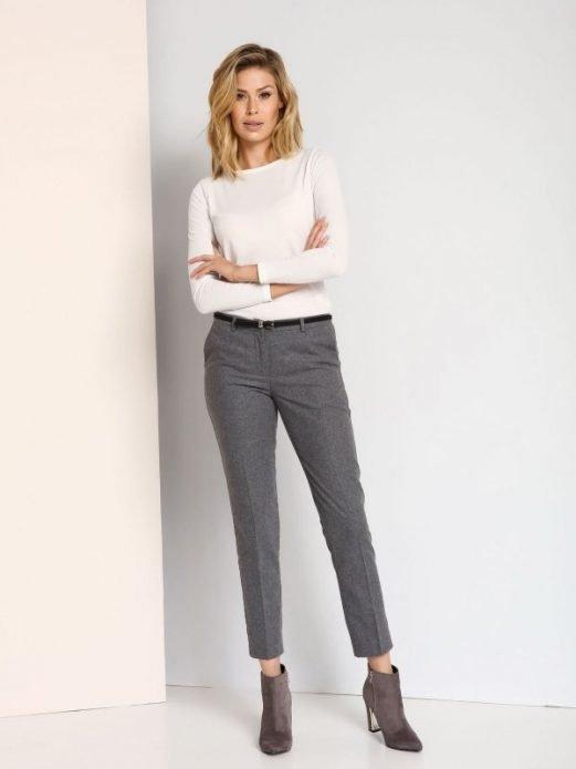 серые брюки узкие