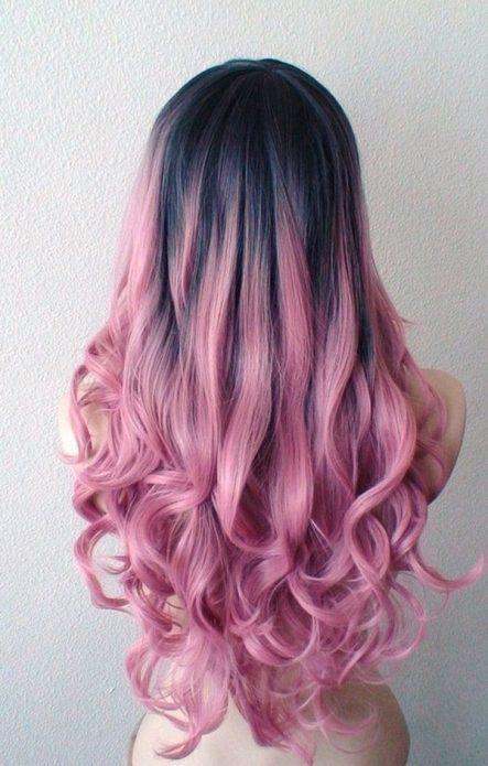 сомбре розовое