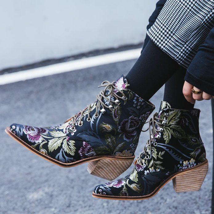 ботинки гобелен