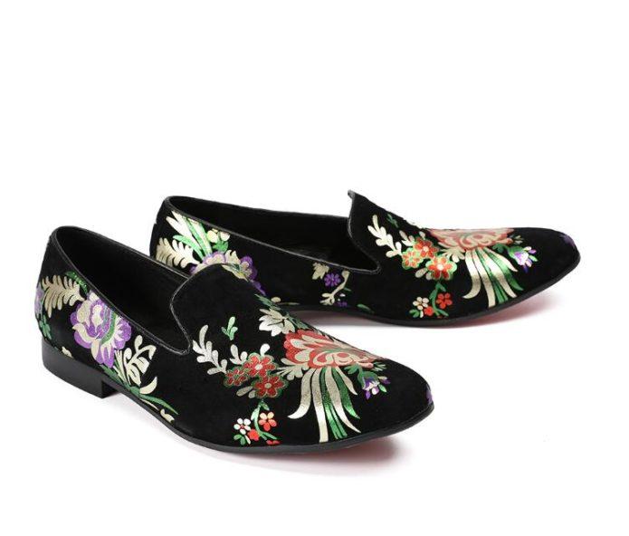 ботинки с флористическим принтом