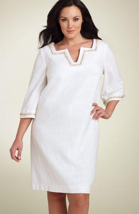 Деловое платье для полной женщины