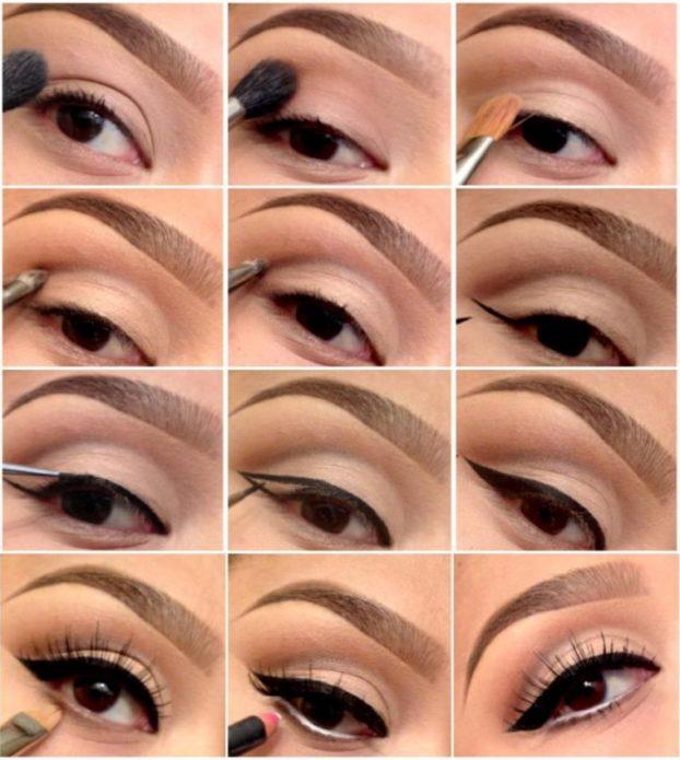 дневной макияж карие глаза