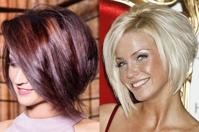 градуированный боб на светлые и русые волосы