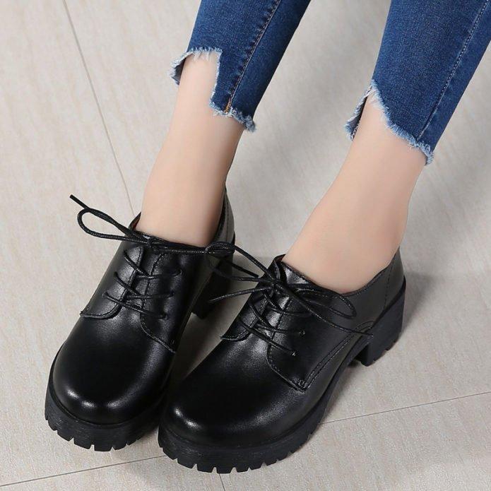 грубые ботинки низкие